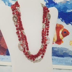 Crown PD Jasper stone necklace